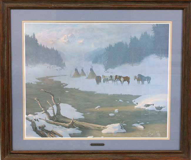 "Jacob Pfeiffer, ""Secure For The Winter,"" framed print ..."