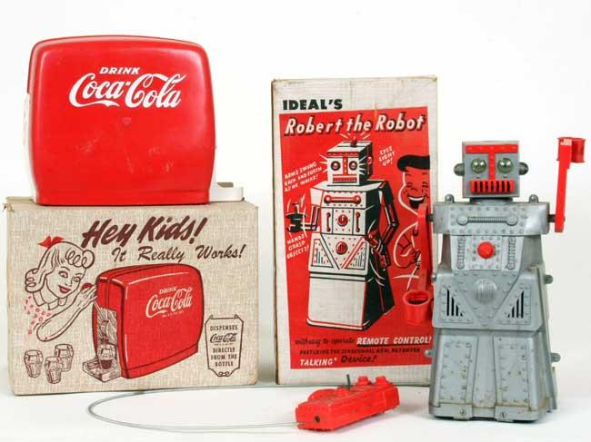 Left Child S Coke Dispenser Right Ideal S Robert The Robot